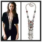 New Fashion Women's Sweater Chain Long Pendant Gold Silver Necklace Jewelry Uk
