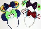 24 PC MICKEY MINNIE MOUSE EARS HEADBANDS BLACK RED/PINK BOW PARTY FAVORS COSTUME