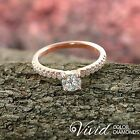 DGI Certified Diamond Engagement Ring 14k Gold 1.25 CT SI/I-J Size 5.5 Enhanced
