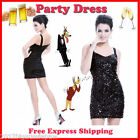 Sexy High Stretch Blacks Sequins Party Dress Woman Dress All Size High Quality