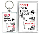 """Don't even think about it..."" Cupid love heartbreak Keyring & Fridge Magnet"