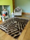 SMALL LARGE BEIGE LUXURIOUS SILKY SOFT THICK SHAGGY LIVING AREA BEDROOM RUGS MAT