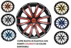 """SET 4 COPRICERCHI SMART FORTWO FORFOUR NOTE COPPE RUOTA UNIVERSALI 14"""" 15"""" 16"""""""