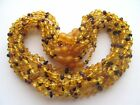 Lot wholesale 10 raw(unpolished) amber baby necklaces, mix Baltic amber