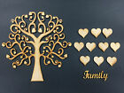Family Tree complet Set, MDF Wooden Craft Blank,Shape, Laser cut 004