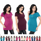 Purpless Maternity 2in1 Pregnancy and Nursing Short Sleeved Top Tee 7742