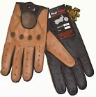 mens leather gloves brown - Men's Two-Tone Unlined Leather Driving Gloves in Tan and Brown FREE SHIPPING