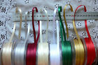 Double Sided Satin Ribbon 8 colours 6mm wide - 5 metre lengths MultiList GTara B