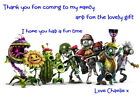 Children's Party Thank You Cards - Various pack sizes ~ Plants vs Zombies