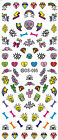 Graffiti POP Dollar Diamond Unicorn Tongue Cross Nail Art Water Transfer Decal