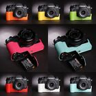 Genuine Real Leather Half Camera Case Bag Cover for FUJIFILM XT2 X-T2 7 colors