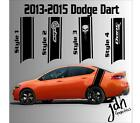 2013-2015 Dodge Dart Rear Racing Stripe Vinyl Decal Sticker SXT SRT RT SRT8 $39.99 USD on eBay