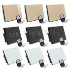 Crystal Glass Panel Smart Touch Wall Control Light Switch 1/2/3 Gang 1 Way
