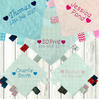 PERSONALISED BABY TAGGY TAGGIE BLANKET COMFORTER BOY GIRL GIFT TAG SOFT HEARTS