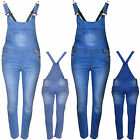 WOMENS LADIES DENIM JEANS CELEB OVERALL JUMPSUIT FULL LENGTH PINAFORE DUNGAREE