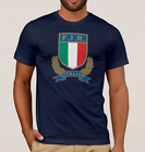 ITALY RUGBY T-Shirt Top. SIX NATIONS Shirt. Azzurri 6 Nations 2017
