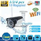 HD 720P IP Camera 1.0MP ONVIF Wireless Wifi Outdoor CCTV Security Night Vision