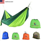 Double 2Person Travel Camping Outdoor Nylon Fabric Hammock Parachute Sleep NEW