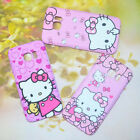 Cute Pink Hellokitty Cartoon Dual Back Case & Front Cover For Samsung Galaxy S7
