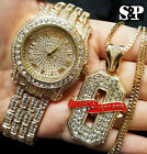 Men Hip Hop Iced Out Simulated Diamond Watch & OVO