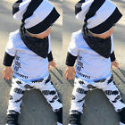 Newborn Infant Baby Boys Girls Tops Romper+ Long Pants Outfit Set Cotton Clothes