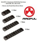 Magpul MAG580 581 582 583 MLOK M-LOK Rail Sections - 3, 5, 7, or 9 Slots - NEW