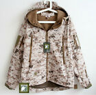Men Camouflage Softshell Jacket Motorcycling Camping Outerwear Winter Fleece