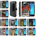 For Samsung Galaxy J Series Phone Holster Belt Clip Armor Gambling Casino Case