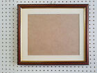 20mm WALNUT AND GOLD PHOTOGRAPH/PICTURE FRAME WITH PICTURE MOUNT - VARIOUS SIZES