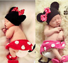 Newborn Baby Girls Crochet Knit Costume Photo Photography Prop Outfits Minnie