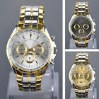 Kyпить Luxury Mens Dial Gold Stainless Steel Quartz Analog Business Wrist Watch  на еВаy.соm