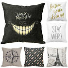 Funny Artist Cushion Cover Throw Pillow Case Unique Print Linen Girl Friend Gift