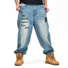 #146 Men Brand new Hip Hop Stone Wash Embroidery Trouser Pants Casual Jeans