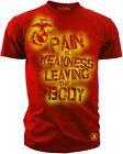 USMC Red Performance T-Shirt Pain is Weakness Leaving the Body  S M L XL XXL 3XL