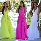 Hot Women Summer Sleeveless Long Dress Boho Maxi Cocktail Party Dress Sundress