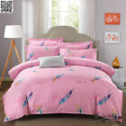 Pink Girl King Single Queen King Size Doona Quilt Duvet Cover Set Flat Sheet New