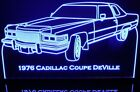 """1976 Cadillac Coupe Deville 11-13"""" Lighted Led Sign Plaque 76 VVD12 Made in USA"""
