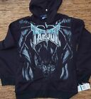 """TAPOUT """"BLACKEST"""" YOUTH/BOYS LOGO COTTON/POLY ZIP-UP HOODIE LIST $48"""