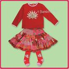 ROOM SEVEN NWT Girls 3Pc Fall/Winter Skirt Set and Tights    RETAIL $179.00