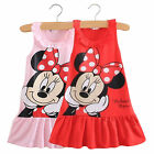 Girls Cartoon Kids Minnie Mouse Party Casual Mini Dress Skirts Clothes 1-5Years