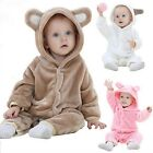 Newborn Baby Infant Boy Girl Romper Jumpsuit Bodysuit Outfit Hooded Cloth USA