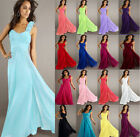 New Formal Chiffon Evening Ball Gown Party Prom Bridesmaid Dress Stock Size 6-18