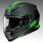 SHOEI NXR FLAGGER TC-4 FULL FACE MOTORCYCLE HELMET MATT BLACK & GREEN