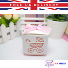 Laser Cut Baby Carriage Candy Gift Box Favour Bag Party Event Decoration UK SOLD