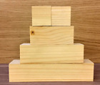 Small 3 Tier Wooden Block Set with 2 cubes CRAFT WOODEN BLOCKS STACKING