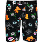 Ethika NEW Mx The Staple Patchworked Black Boxers Mens Long Motocross Underwear