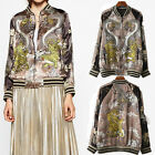 New LIMITED EDITION Animal FLORAL DRAGON EMBROIDERY BOMBER PARKA JACKET COAT