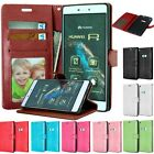 Flip PU Leather Magnetic Wallet Card Slot Stand Case Cover For Huawei Phones