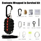 12 Pcs Emergency Tools Rope Weaven First Aid Kit Small Survival Pouch Portable