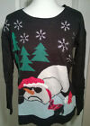Ugly Christmas Sweater Funny Fallen Snowman United States Sweaters Holiday M XL